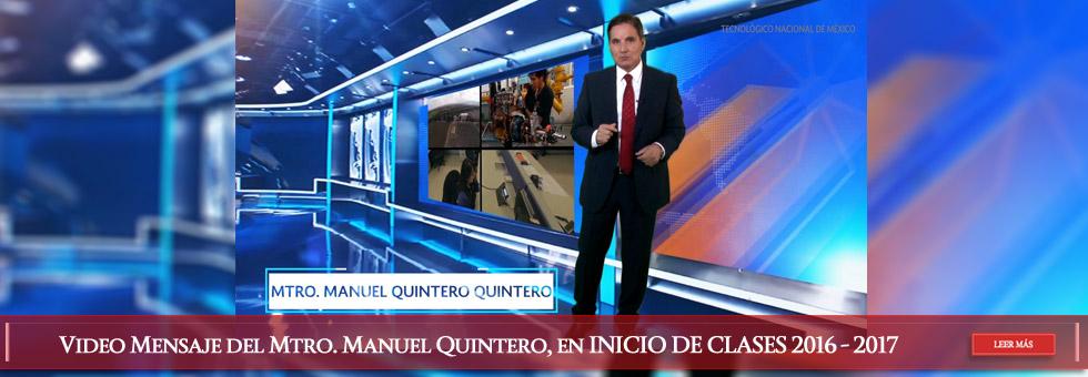 mensaje Mtro Quintero