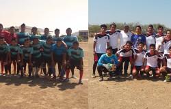 Juego amistoso de fútbol soccer en el Instituto Tecnológico de Salina Cruz